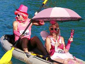 Noosa paddlers look pretty in pink