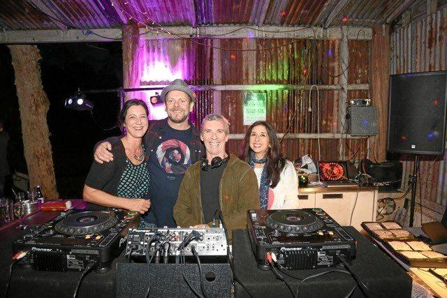 From left, Sarah and Darren Sutton (aka Lord Sut), Dale Stephen (aka DJ Brevil) and Laura Peck  are the Cunning Stunts team behind Nudge Nudge Wink Wink parties.