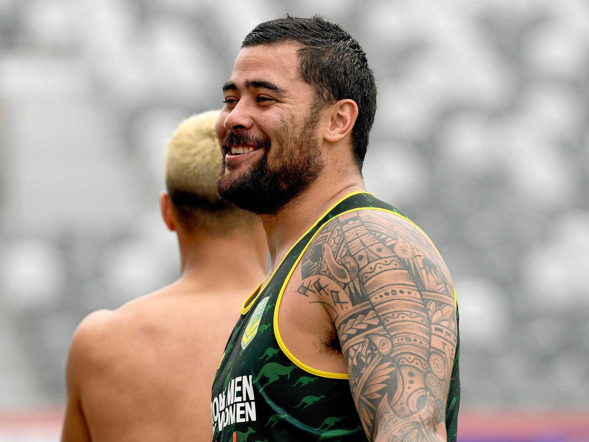 Andrew Fifita will play for Tonga at the World Cup.