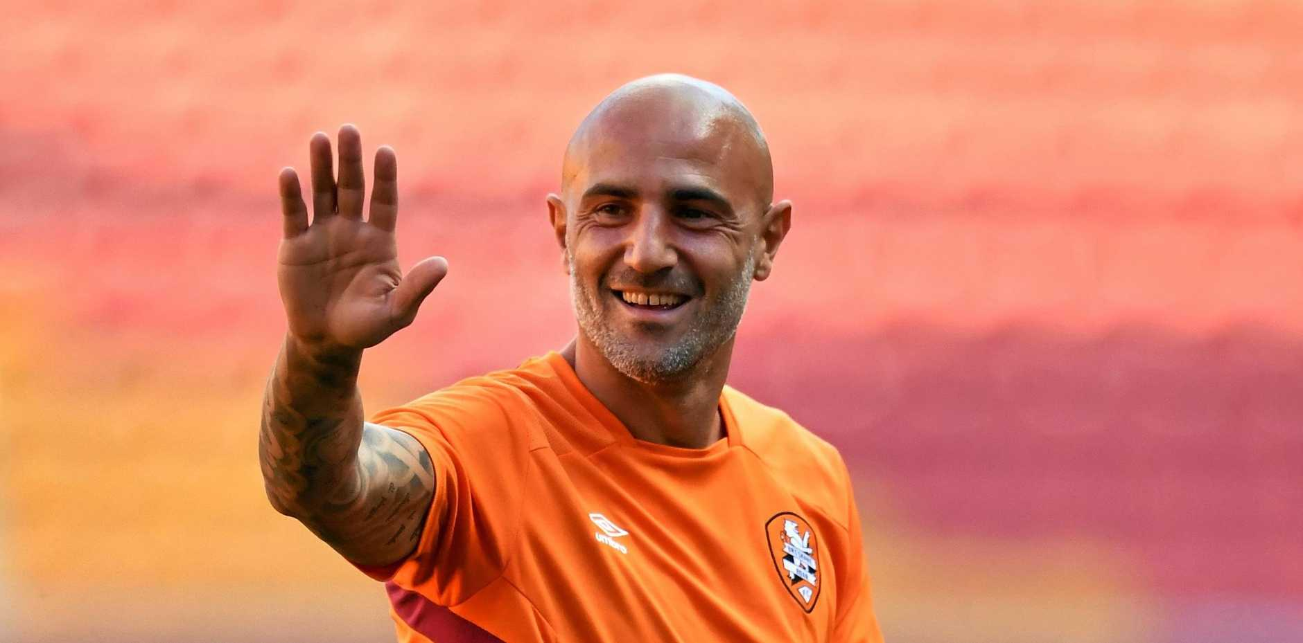 VETERAN RECRUIT: Massimo Maccarone is set for his Roar A-League Friday night.