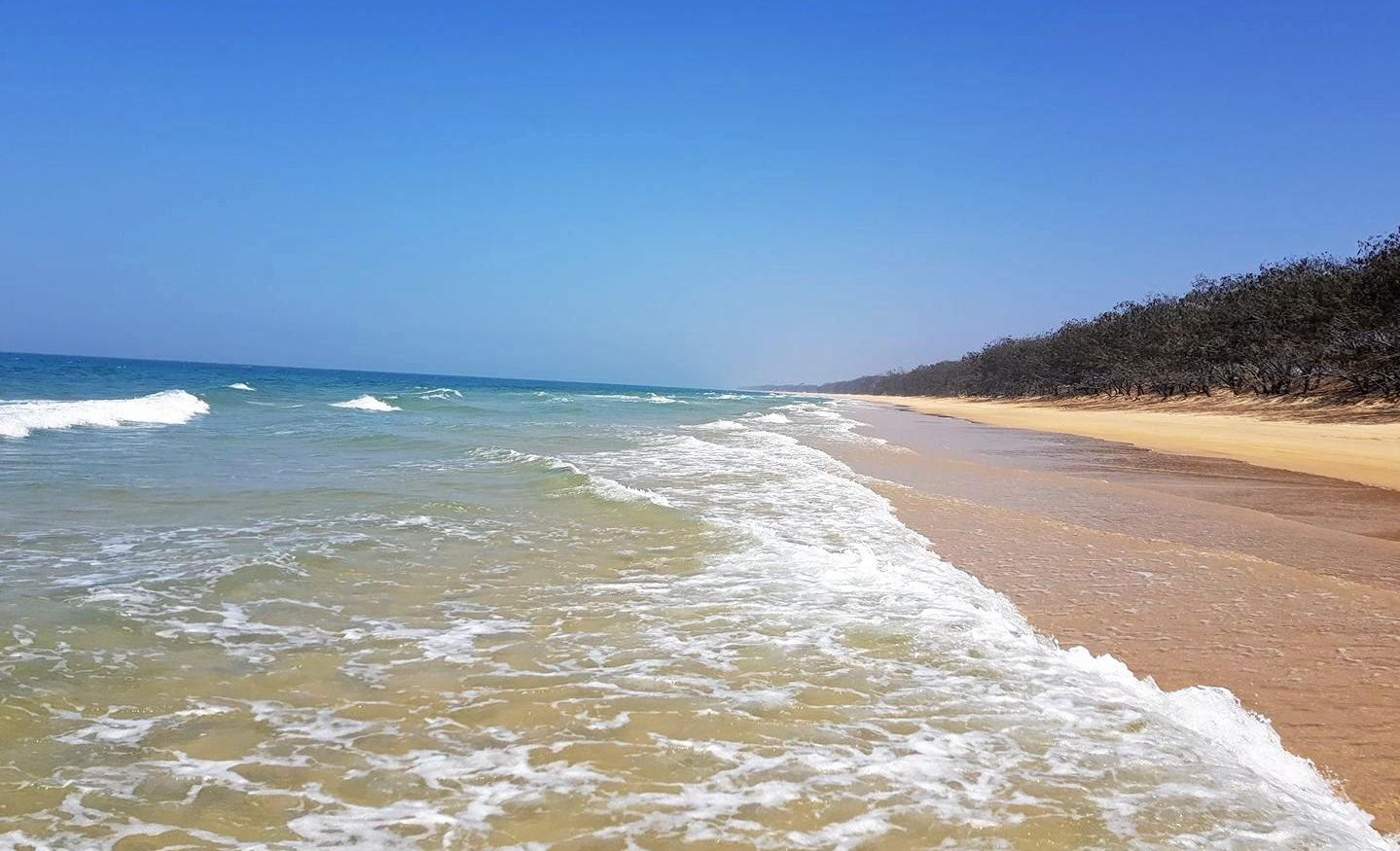 COVER UP: TC Monty shared this photo of perfect beach weather with the NewsMail. After the recent wet weather, this weekend is looking up.