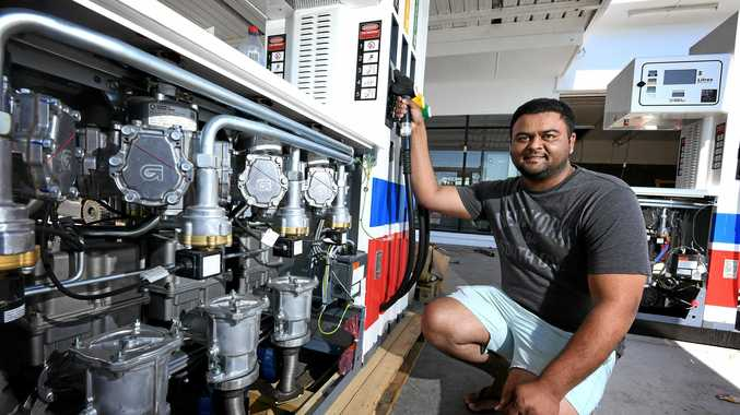 NEW STATION: New Liberty Service Station owner Jimmy Singh is looking forward to the opening of his new business.