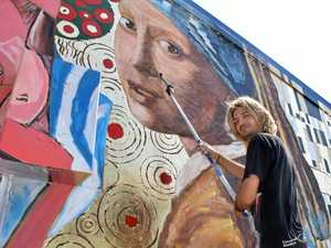 TIMELAPSE: Watch Fraser Coast mural painted in minutes