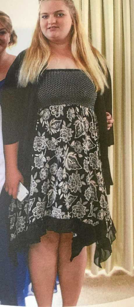 BEFORE: Josephine Desgrand weighed 120kg a year ago.