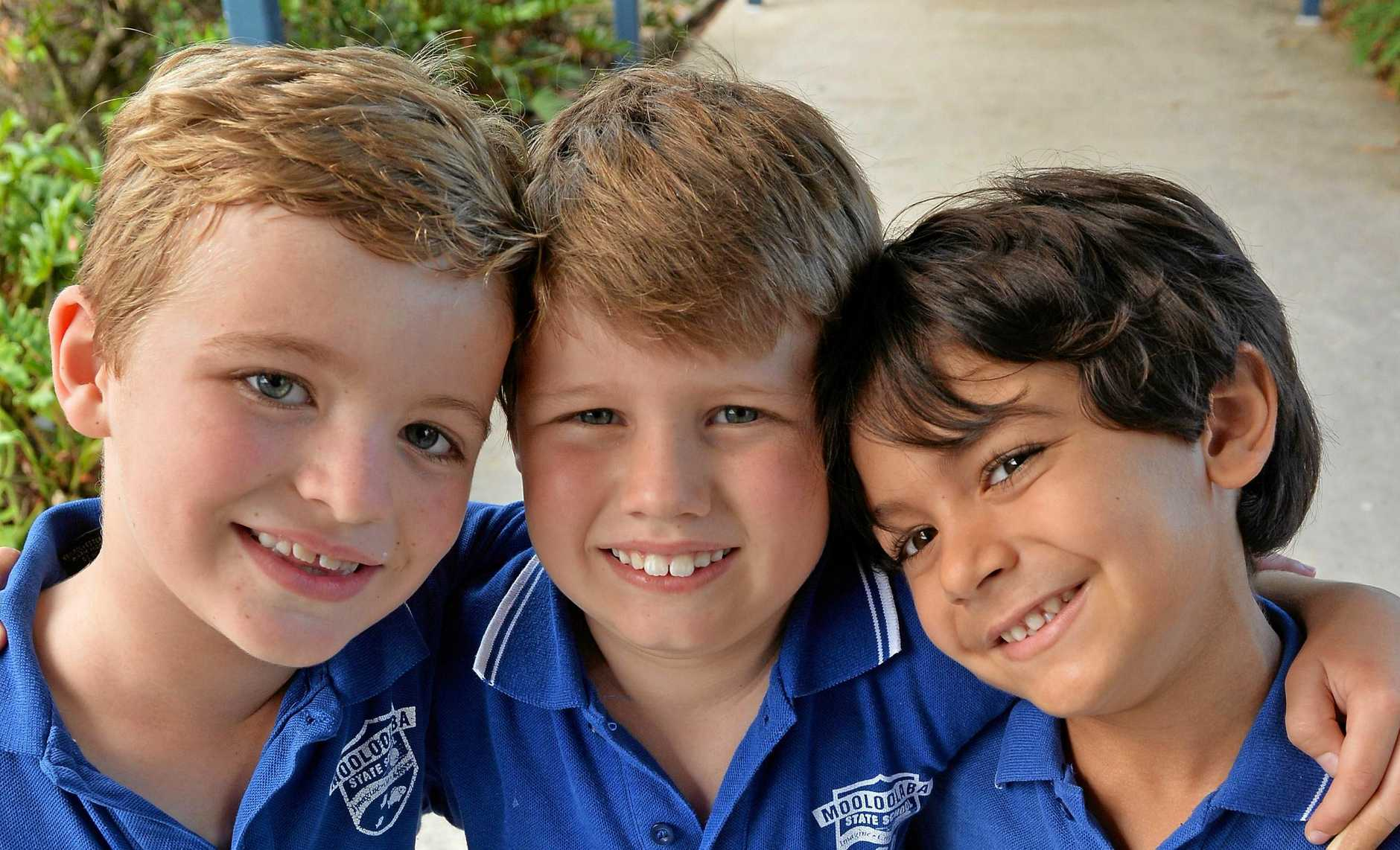 Archie Griffiths (middle), 7 year old diagnosed with leukaemia. Out in support are his soccer team mates Archie Lutz and Archie Brown.