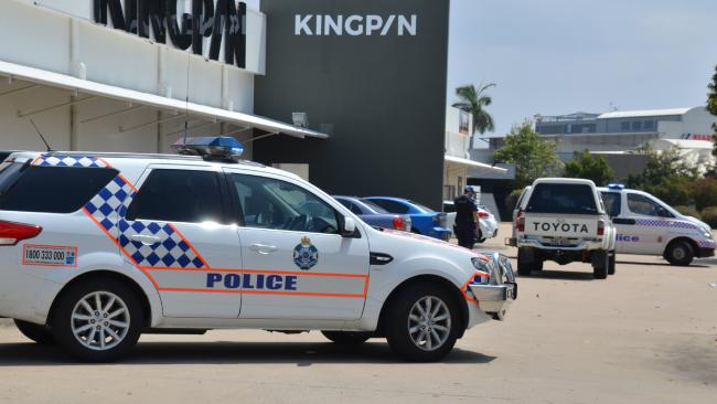 A child was hit by a vehicle in the Kingpin bowling alley carpark in the Townsville suburb of Kirwan.