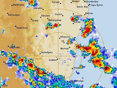 Storms are heading for Lismore this afternoon.