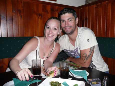 Brad Davis and his partner Bianca.