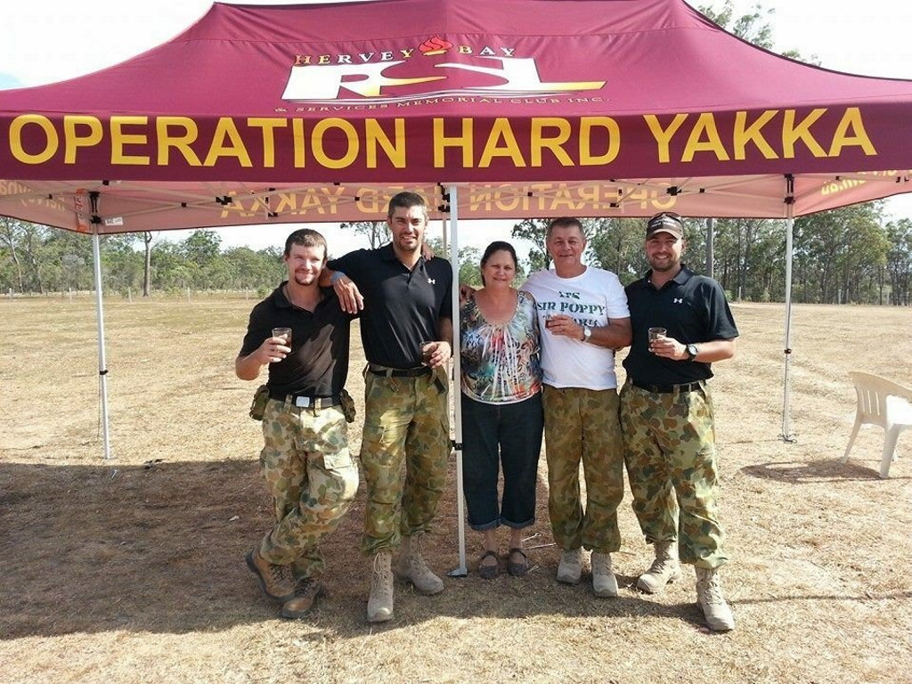 Brad Davis at the conclusion of another Operation Hard Yakka bootcamp.
