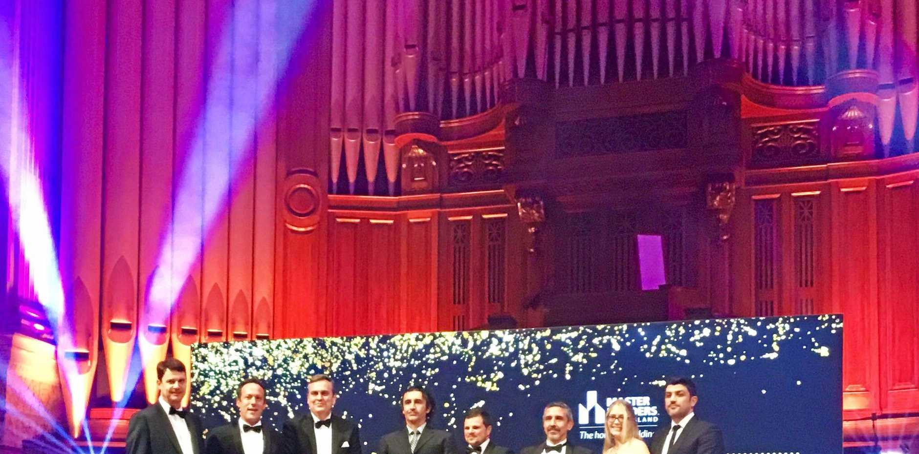 Lendlease, winners of the Project of the Year and Health Facilities over $20million, at the 2017 Master Builders Queensland Housing and Construction Awards at Brisbane City Hall.