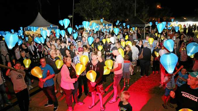 SHINING BRIGHT: Bargara and Woodgate will host Light the Night events this month.