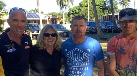 Lynn Murray, now of Capella, pictured with her three grown-up sons Jason (left) and the two who were caught up in the beach drama that day, Clayton and Troy.