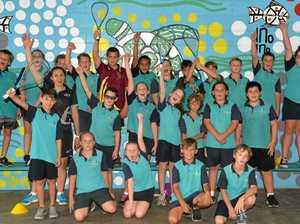 Kids bounce into squash clinic