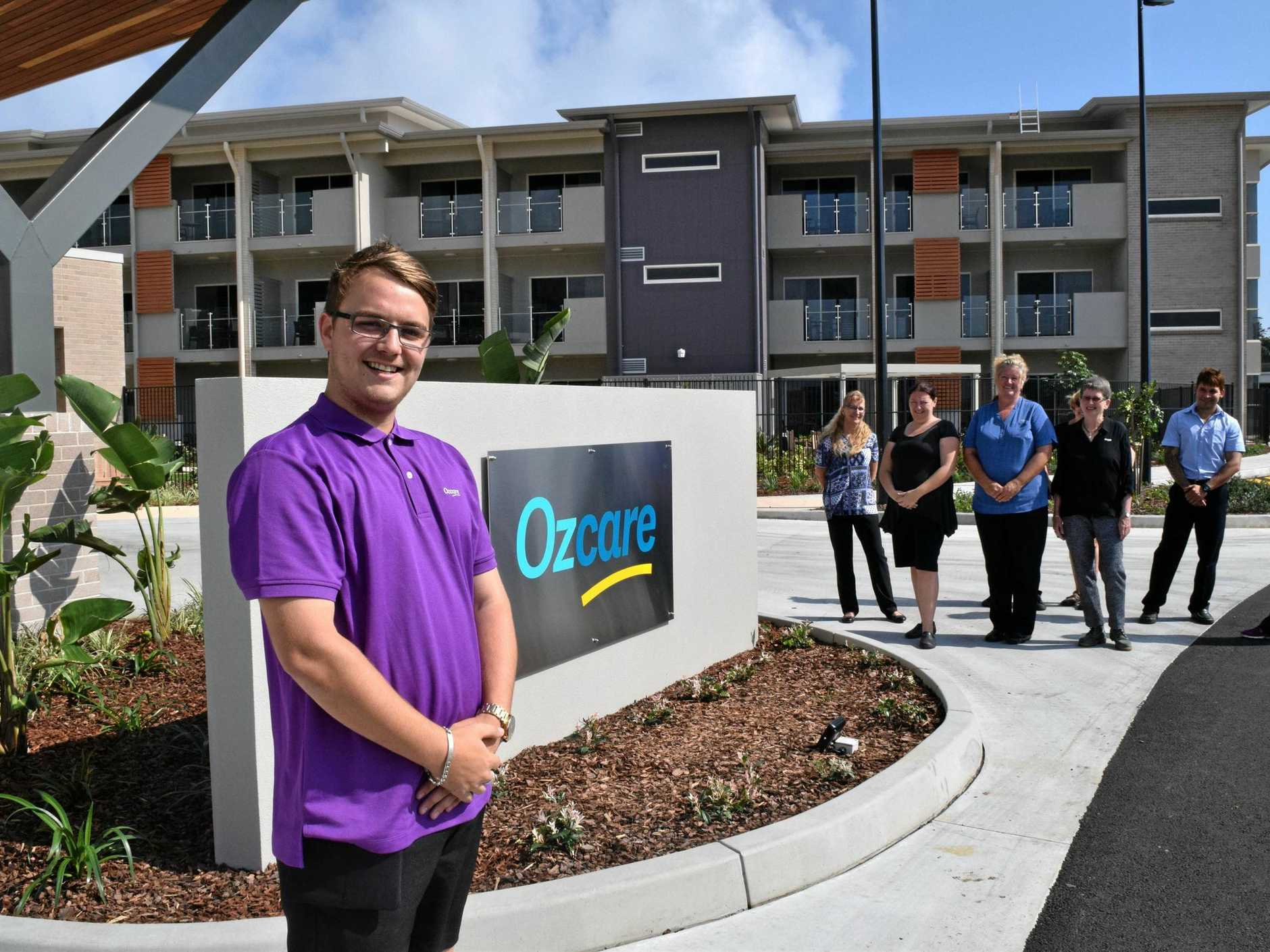 NEW STARTERS: Daniel Down (left) is one of the new registered nurses and therapists starting at the new OzCare Aged Care Facility in Kawungan. The centre will take patients from October 16.