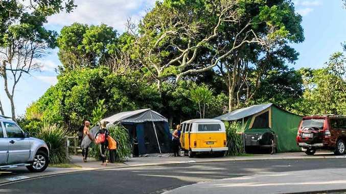 NSW Crown Holiday Park Trust's caravan park at Clarkes Beach Byron Bay