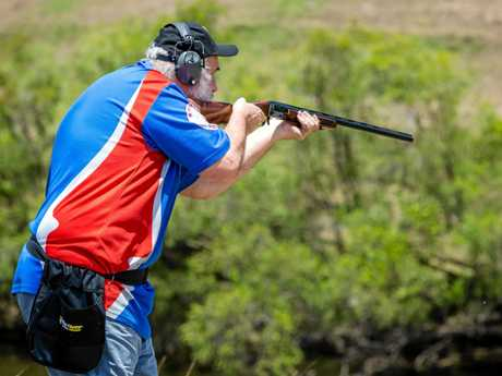 Ron Owen shoots clays in Gympie