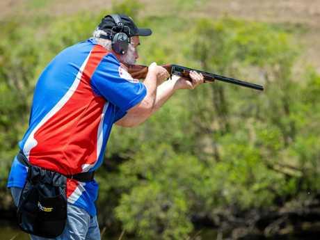 Ron Owen shoots clays in Gympie