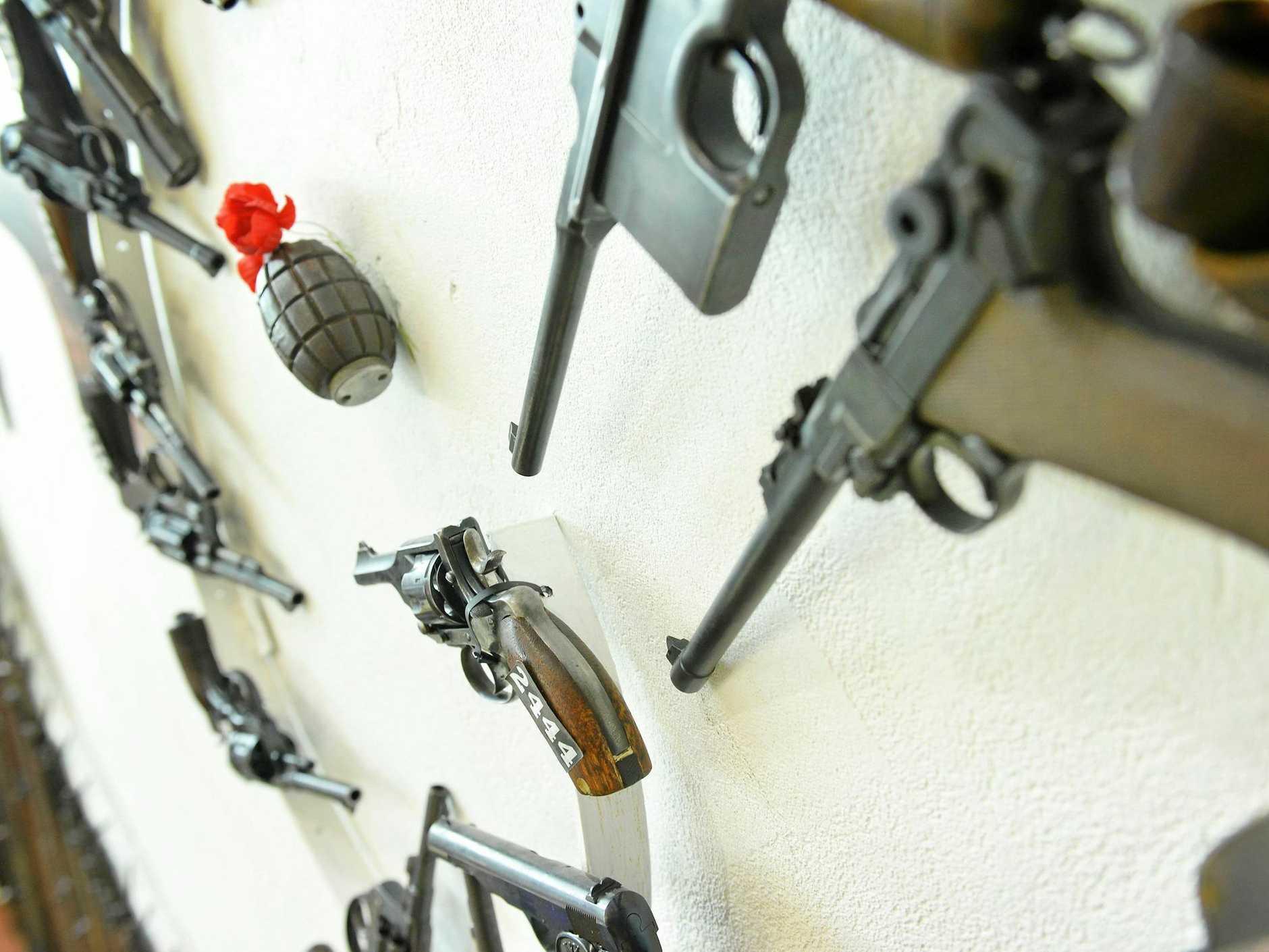 Ron Owen openening Owen's guns museum in Gympie.