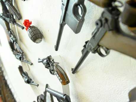 Ron Owen at Owen's guns museum in Gympie.