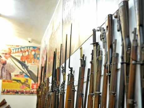 Ron Owen's guns museum in Gympie.