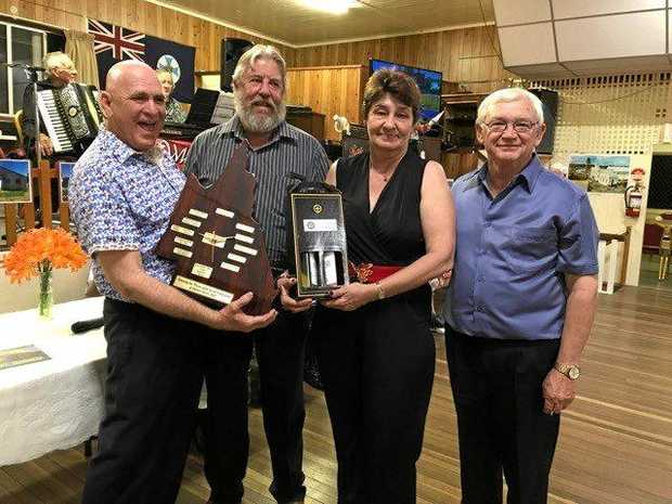 GREAT NIGHT: John Friswell, Ian Rickuss MP, Di Smith and Les Andrews enjoy the event.