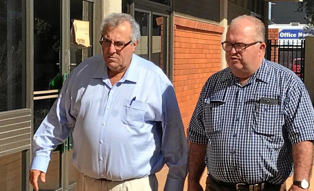 Canegrowers Queensland chairman Paul Schembri with Australian Cane Farmers Association chair Steve Fordyce.