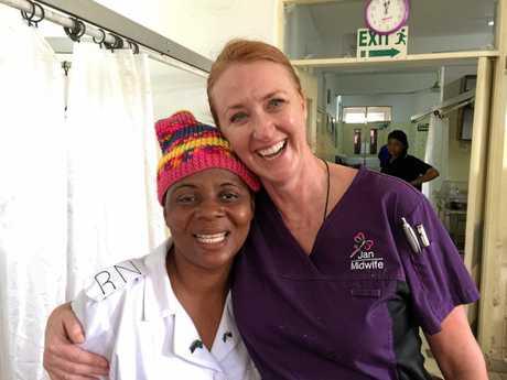 Sunny Coast midwife Jan Becker volunteering in Tanzania.