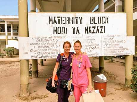 HERE TO HELP: Sunshine Coast midwife Jan Becker volunteering in Tanzania.