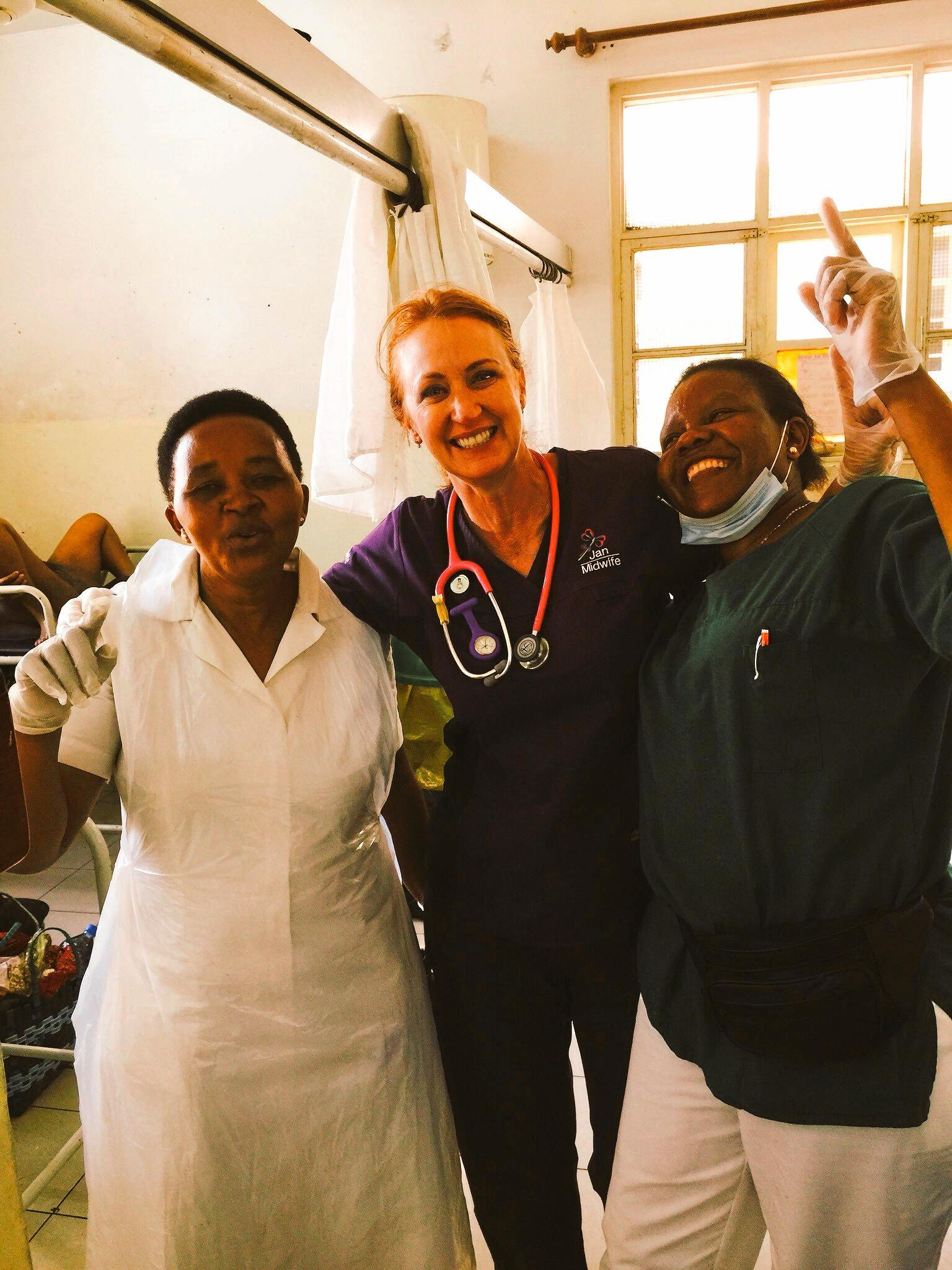 Sunny Coast midwife Jan Becker volunteering in Tanzania.
