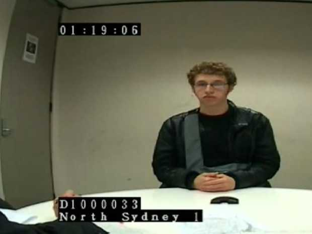 Daniel Kelsall during his police interview.Source:Supplied