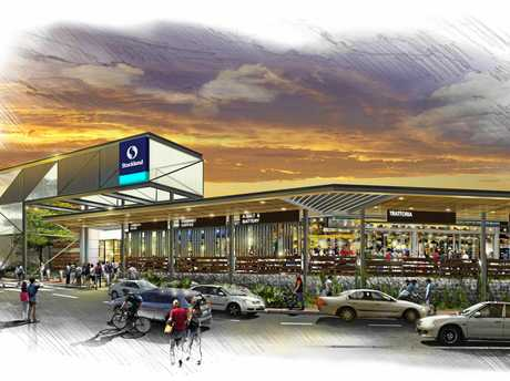 An artist's impression of the  proposed extensions to Stockland Gladstone.