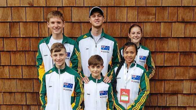 TEAM SPIRIT: Peak Downs Karate Australian Team Members in Ireland day before competition.