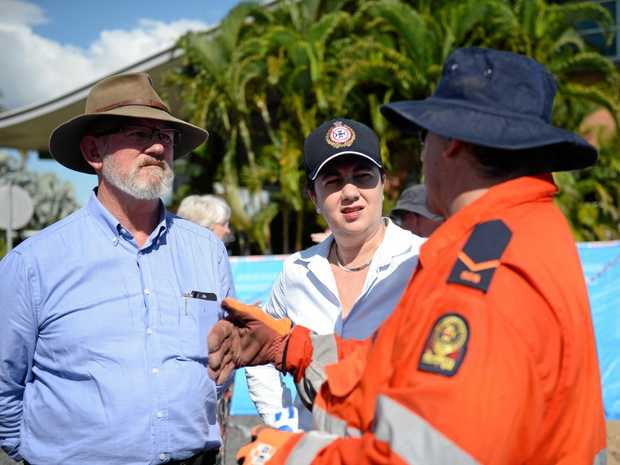 Rockhampton MP Bill Byrne, with Queensland Premier Annastacia Palaszczuk