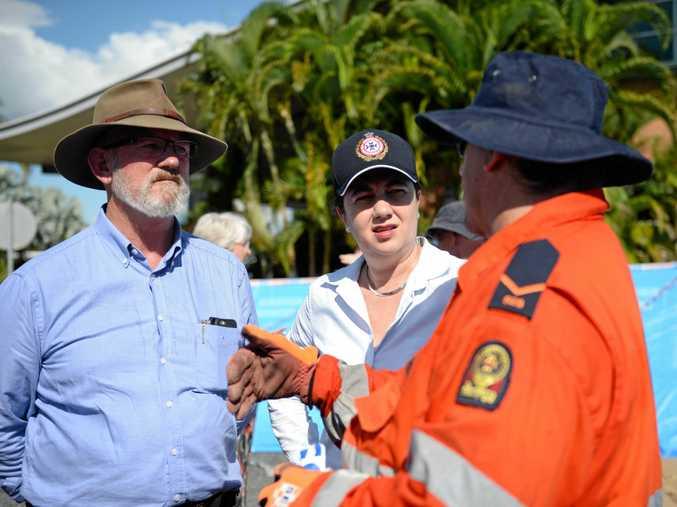Rockhampton MP Bill Byrne, with Queensland Premier Annastacia Palaszczuk