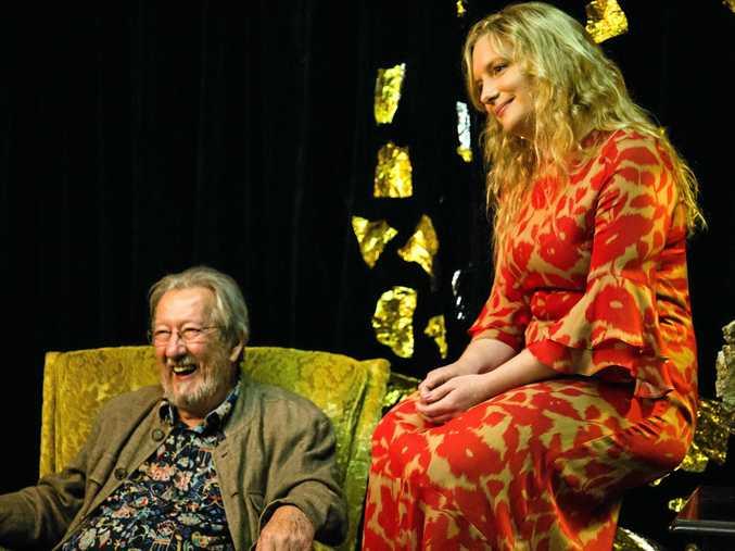Heart of Gold artistic director Emily Avila with Australian screen legend Michael Caton.