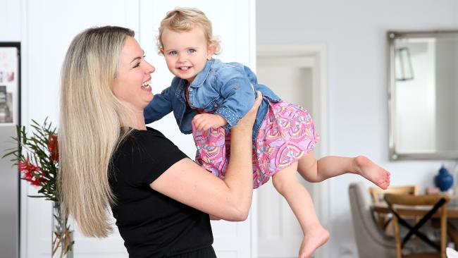 Kate Willbourn-Trevett, with her daughter Isla, admits her own to-do list has grown as she juggles motherhood and work. Picture: Justin SansonSource:News Corp Australia