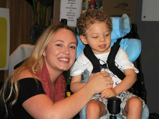 TEAM COOPER: Shanowah Wyatt with her son Cooper Milner.