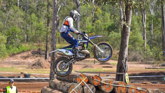 FLYING HIGH: Yeppoon's Jaymie Warr was the best-performed local rider, coming second in the expert class in the Keppel Coast Dirt Bike Club's 2017 Freight Solutions Australia Yeppoon Enduro-X.