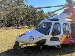 Two in hospital after bike accident