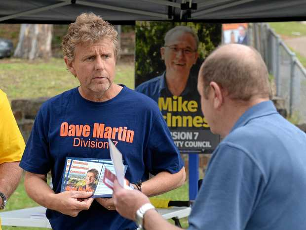 Division 7 by-election winner Dave Martin did the hard yards