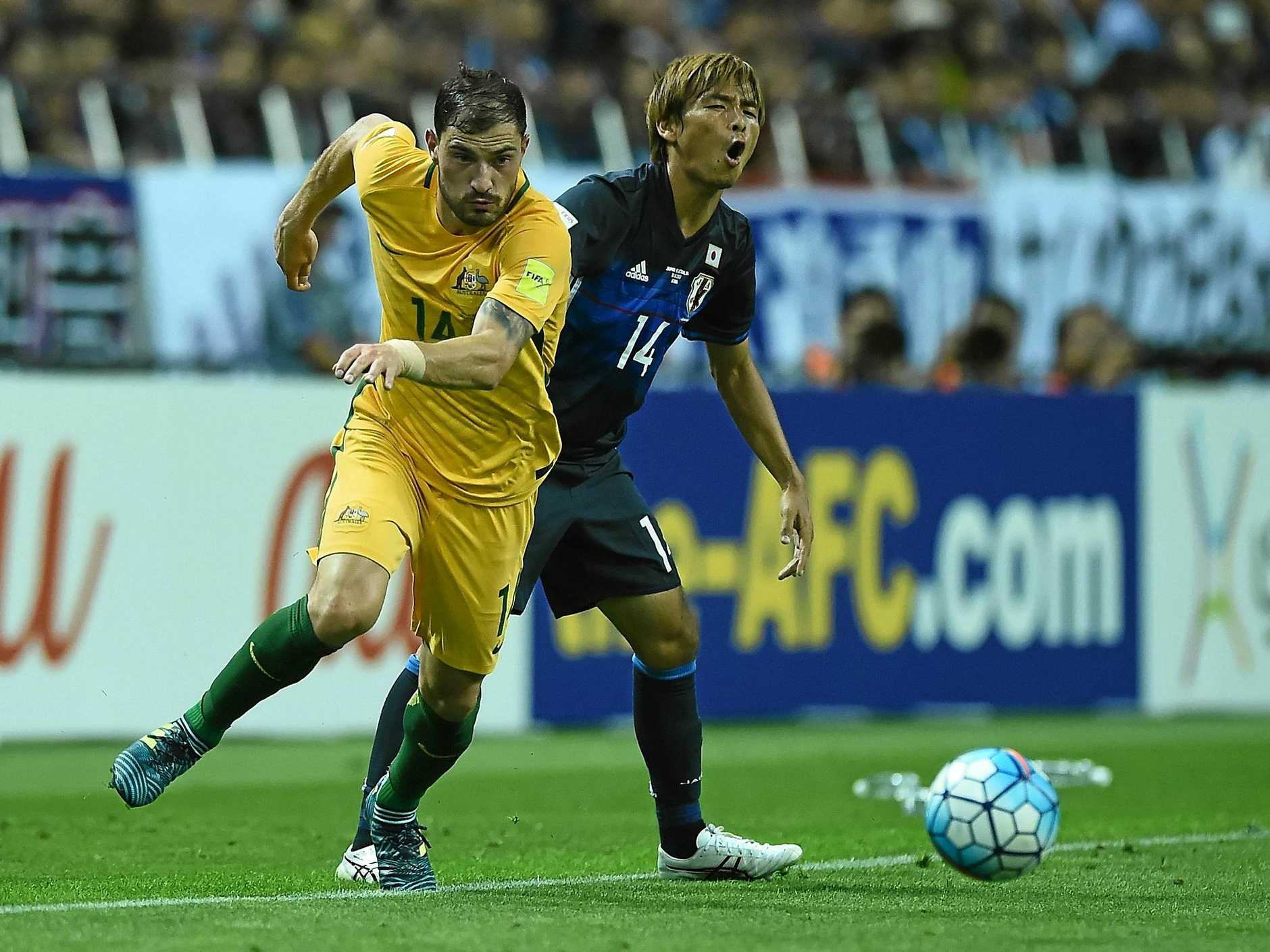 James Troisi (left) says Australia must take advantage of home conditions.