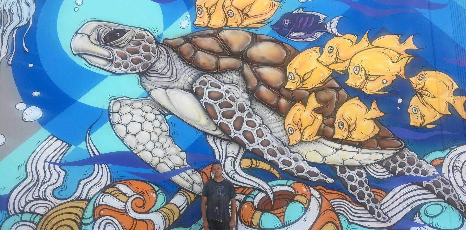 Bundaberg's newest mural is 'turtly' awesome | News Mail