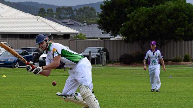 TOP SCORE: Toby Leeds plays a shot against Pottsville in FNC LJ Hooker League cricket.
