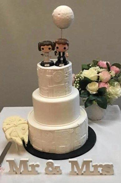 The happy couple's wedding cake.