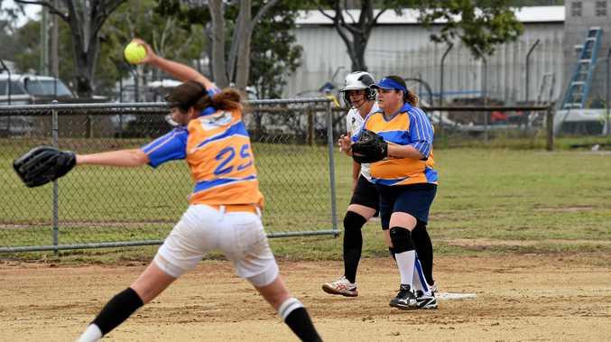 GAME ON: Hervey Bay's Savannah Ritter pitches during the Hervey Bay Softball women's A-grade match between Hervey Bay Terrors and Bargara Bullets.