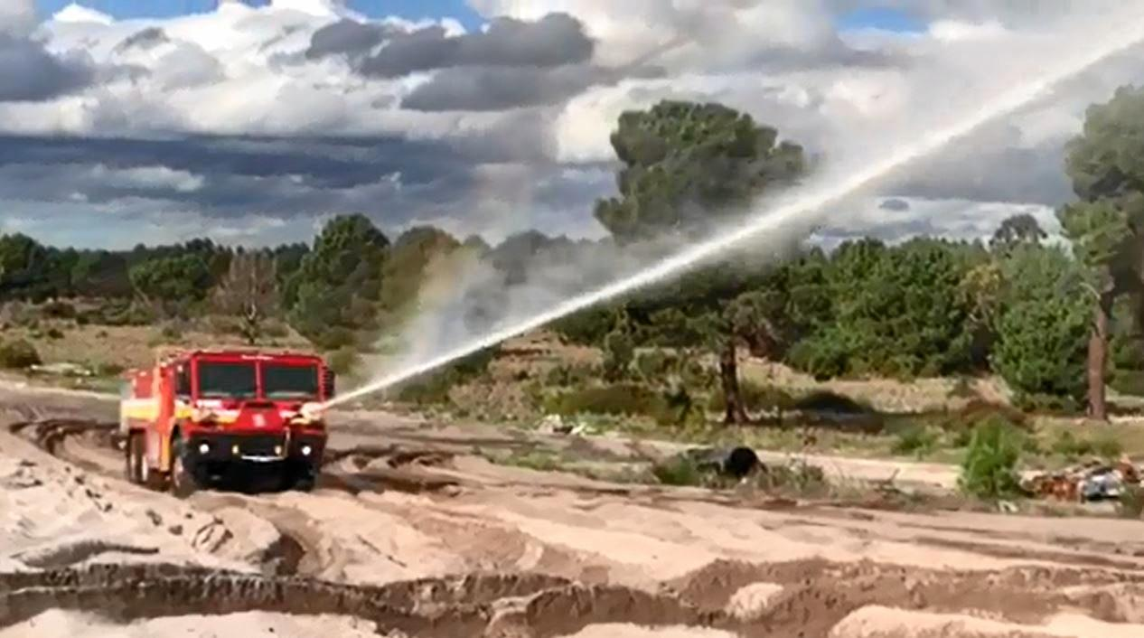 HOSE DOWN: The Tatra T817 in action ready and prepared for anything.