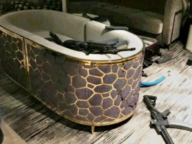 Inside shooter Stephen Paddock's room at the Mandalay Bay hotel, Las Vegas. Picture: SuppliedSource:Supplied