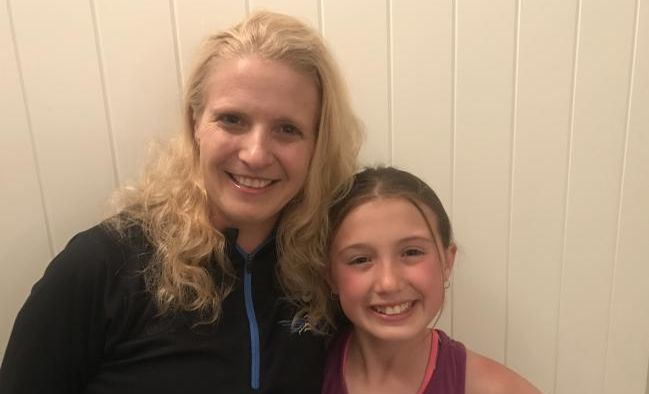 Kylie Newton with her 10-year-old daughter Sienna is one of the lucky ones who survived brain cancer.