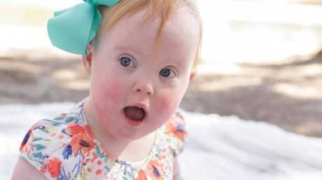 Claire Smith, daughter of Megan Smith, is one of the kids with Down's syndrome photographed as part of the T21 Mums initiative. Picture: Leanne Forbes Photography.Source:Supplied