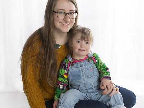 Kathleen Simpkins with her daughter Elva who has Down's syndrome. Picture: Lou McMillan PhotographySource:Supplied